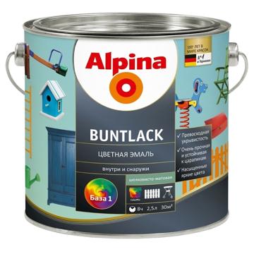 ალპინა Buntlack ფერადი ემალი შავი