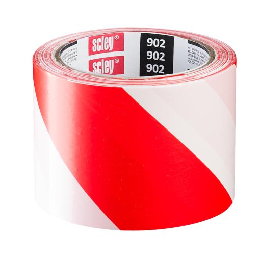 სანიშნე ლენტი (წითელი/თეთრი) 75*100მ