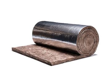 Picture of კნაუფის მინერალური ბამბა ფოლგით 50*1200*10000  12მ²  (მინაბამბა) (ქვაბამბა) (სტეკლოვატა)